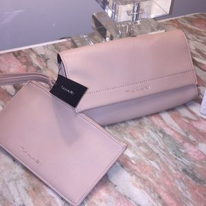NET TAHARI WRISTLET CLUTCH SET 2 in 1 wallet bag